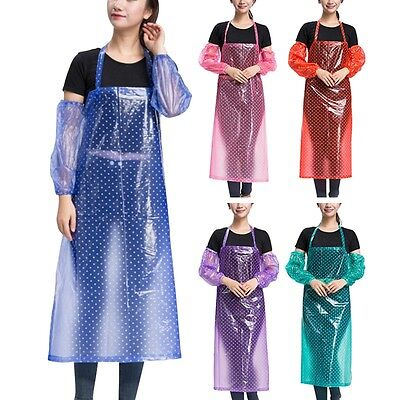 Latest Waterproof Apron Anti-fouling Art Paint Kitchen Cook Oil-proof Workwear