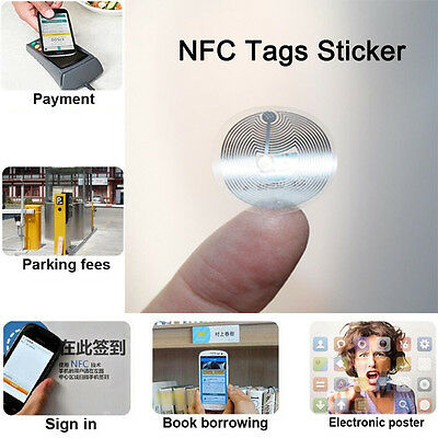 Clear Smart NFC Tags Stickers 22mm NTAG203 Wet Inlay For All NFC Enabled Phones