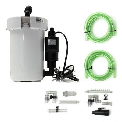 HW-603B Aquarium Fish Tank External Canister Filter Fresh/Salt Water Table Top