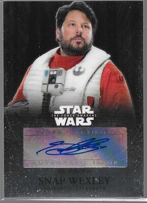 2016 Topps Star Wars Chrome Auto Greg Grunberg as Snap Wexley