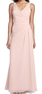 Jim Hjelm NEW Pink Women's Size 10 V-Neck Ruched Maxi Dress $230 #470 DEAL