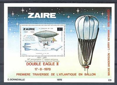 Zaire - BL59 - Bloc 59 - Aviation - Sabena - 1985 - MNH
