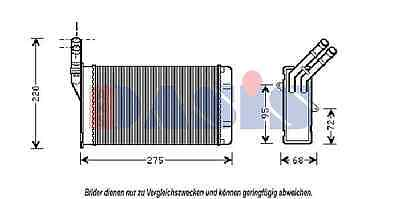 AKS DASIS Heat exchanger, Interior heating 069250N