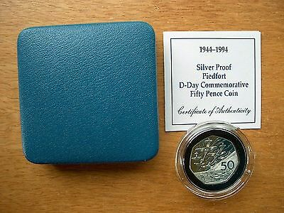 British - 1994  Silver Proof Piedfort 50 pence Boxed