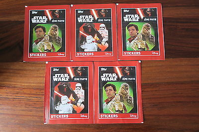 5 Paquets De Stickers   Star Wars  2Eme Partie    - Topps   -- Neuf / New