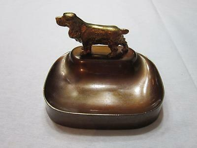 Vintage Metal Astray With Cocker Spaniel Dog