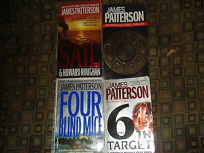 James Patterson Lot Of4 Thrillers - Sail-Cross Fire-Four Blinfd Mice-6Th Target
