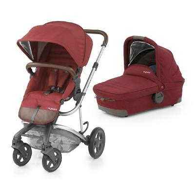 BabyStyle 2-in-1 Hybrid Edge Pushchair with Carrycot Pram (Lava Red)