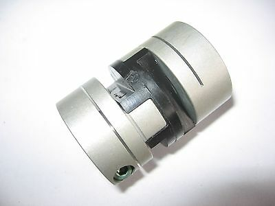 "Huco Aluminum Oldham 1/2"" x 3/8"" Flexible Shaft Coupling Coupler .50"" x .375"""