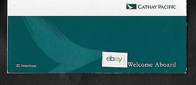 Cathay Pacific Airways Hong Kong Ticket Jacket Welcome Aboard 1994 Brushstroke