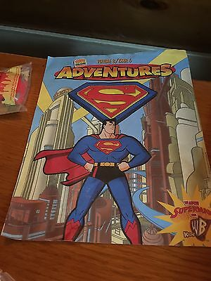 1997 BURGER KING KId's Club Happy Meals SUPERMAN TOYS - compete with ad