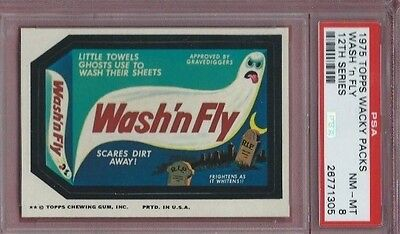 Wacky Packages Wash And Fly Psa 8 Nmmt High End Beauty! Low Pop