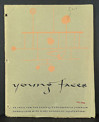 The Composing Room NYC 1952 Typeface Book YOUNG FACES TYPOGRAPHICA JUVENILIA