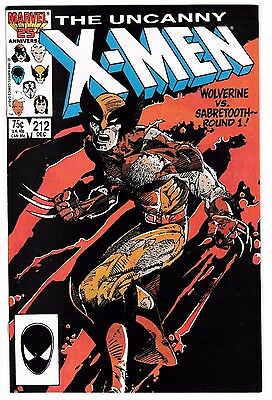 UNCANNY X-MEN #212 (NM-) WOLVERINE vs. SABRETOOTH! Nuff Said! Barry Smith Cover!