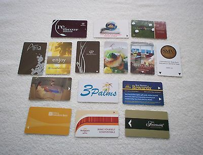 Hotel Key Card Collection of Assorted Hotels