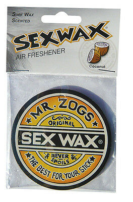 NEW  Sex Wax Car Air Fresheners  COCONUT Surf Scent