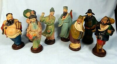 Antique RareChinese pottery 8 Immortals Deities circa early to mid 1900s Retired