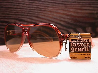 Vintage 1970's 80s Foster Grant Shades Frames Sunglasses USA
