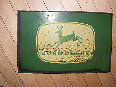 John Deere  Farm Equipment Metal Sign Logo-