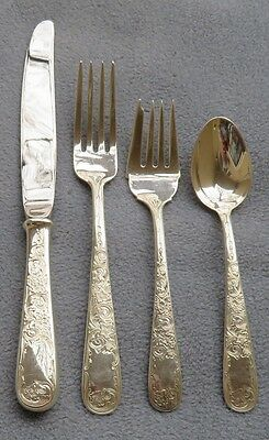 S. Kirk & Son Sterling Silver Old Maryland Engraved 4 Piece Place Setting