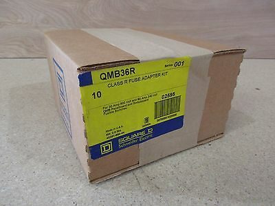 Box of 10 Square D QMB36R Series 001 Class R Fuse Adapter Kits