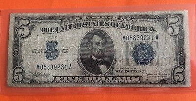 $5 Note  Blue Seal Silver Certificate -  1934C -Circulated