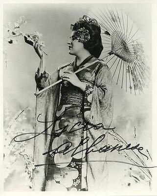 OPERA: Licia Albanese Early Madama Butterfly Autographed