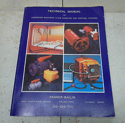 TECHNICAL MANUAL Corrosion Resistant Fluid Handling & Control Systems PANNER Co.