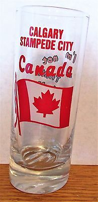 "Calgary Stampede City, Canada Tilted I'm Not Drunk Tall 4"" Shot Glass"