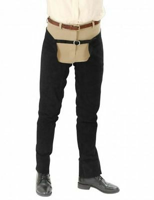 Tough-1 Western Chap Full Length Leather Schooling Double Stitch 63-90