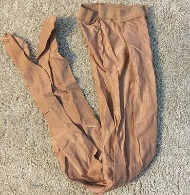 NWOT 1 PAIR Danskin Toast footed dance tights style 1331 Size A USA