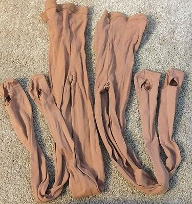 NWOT 2 PAIRS NYC Ballet Danskin footed W Hole dance tights style 602 Size C USA