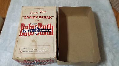 Vintage Curtiss Baby Ruth Candy Bar Store Display Box Advertising Old Original