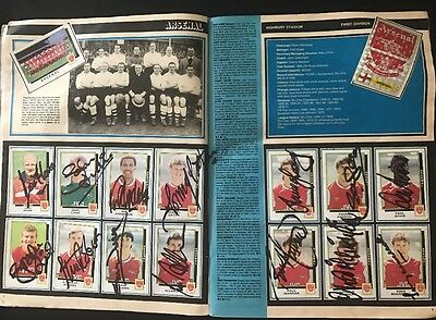 Multi Signed Complete Football 1986 Sticker Album Autographed X 108 Players