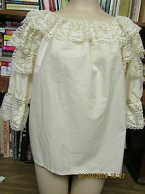 Square Dance blouse Fiesta in America Med off white(Ivory)