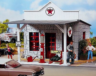 PIKO TEXACO GAS STATION G Scale Building Kit #62264 New in Box