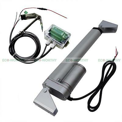 "Solar Tracker System Kits:Single Axis Controllr & 10"" 12V Linear Actuator Motor"