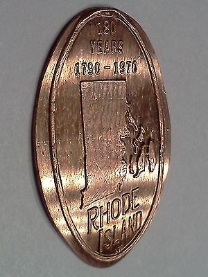 "RHODE ISLAND 180 YEARS (1790-1970)-Elongated / Pressed Penny-""copper"" B-148"