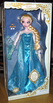 "Disney Store ELSA Musical light-up Singing Feature doll FROZEN figure 18"" 17"""