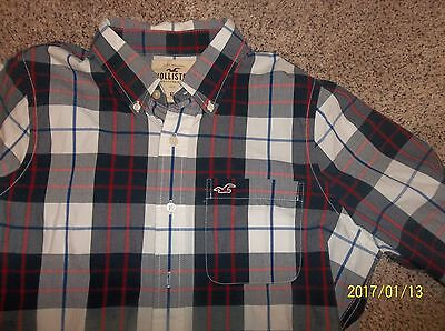 Men's long sleeve button front shirt by Hollister Size XL