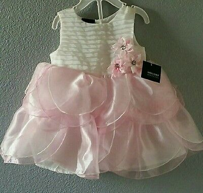 NWT Toddler baby Girl Ocassion Dress 6/9m Holiday Party Easter Pink Princess