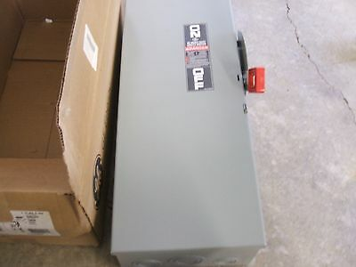 GE 100 amp safety switch 3 pole fusible 480 volt rated