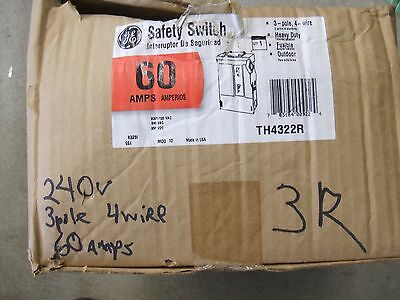 GE 60 amp 3 pole 4 wire safety switch outdoor 240 volt rated