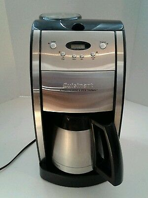 FULLY TESTED Cuisinart Grind and Brew Coffee Maker - Brushed Chrome DGB-600BC