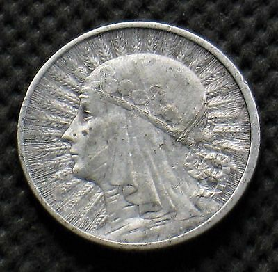 OLD SILVER COIN OF POLAND 2 ZLOTY 1933 JADWIGA SECOND REPUBLIC Ag (A)