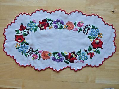 "Beautiful Vintage Embroidered Multi-Colored Floral Dollie - 20"", Never Used"