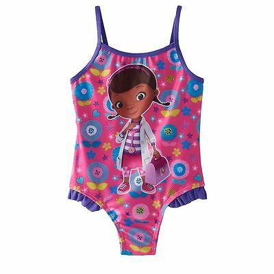 """DISNEY """"Doc McStuffins"""" TODDLER GIRL'S ONE-PIECE SWIMSUIT SIZE 4T NWT"""