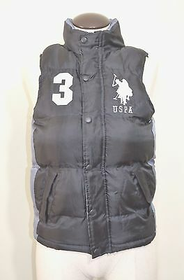 Youth USPA US Polo Association Puffer Vest Size S 8 Black