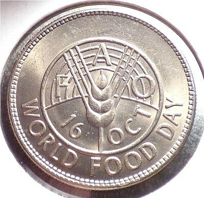 Pakistan 1 Rupee 1981, XF Coin, FAO Issue, World Food Day, KM 56