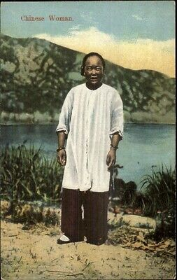 China Chinese Woman Publ in Shanghai c1910 Postcard
